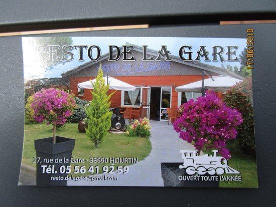 Resto De La Gare Carte Visite Du Restaurant