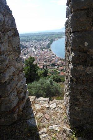 The Venetian Castle of Nafpaktos: Looking east from castle