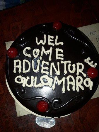 Adventure Gulmarg: Welcome cake