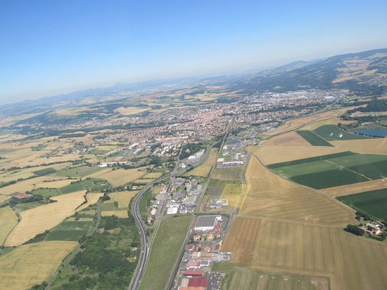 First Flight in Autogyro in Auvergne: retour vers Issoire