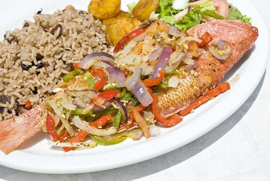 Spanish Town, Jamaica: Jamaican Style Steam Snapper