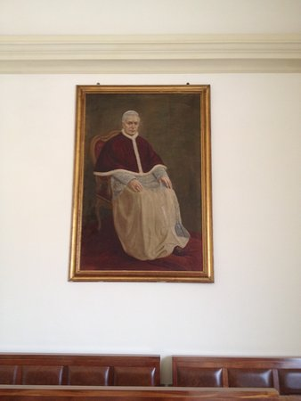 Tombolo, Италия: Portrait of Pope Saint Pius X who had been assistant priest here