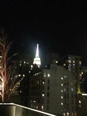 Cassa Hotel Times Square: the glittering empire state building taken from the hotel rooftop