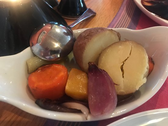 The Chart House: a side of veg...... do I need more potatoes when my dish comes with mash ??