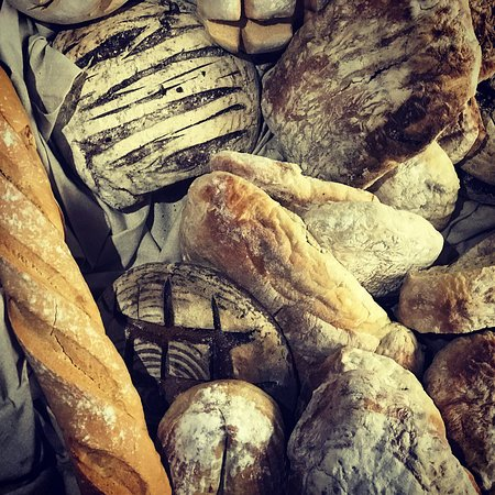 Van Der Linde Restaurant: Selection of artisan breads baked in-house every day..