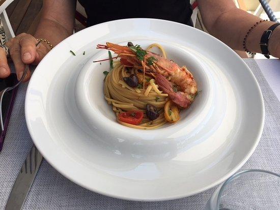 Ristorante Cap e Fierr: spaghetti scampi