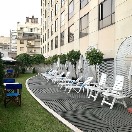 Comfortable sundeck located outside from indoor pool area; InterContinental Hotel Buenos Aires