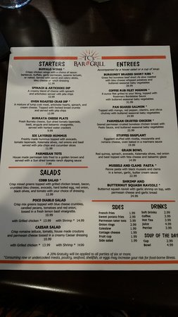 TC's Bar and Grill: Menu 2