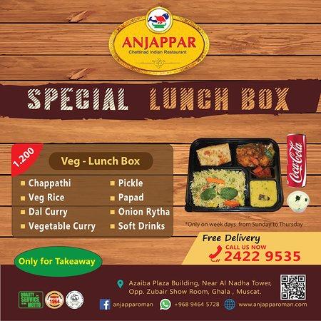 Azaiba, Oman: Special Lunch Box - Veg