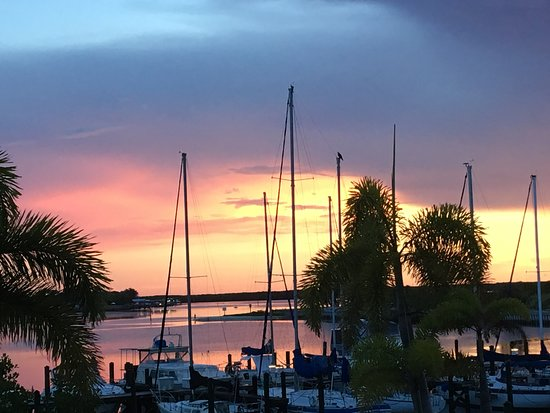 sunset over marina at harborside suites ruskin florida picture rh tripadvisor co nz