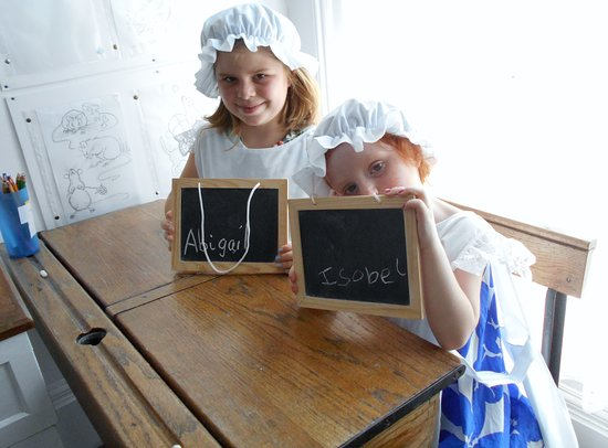 Dawlish Museum: There's lots of outfits for the children to try on and an old school desk to do your sums !