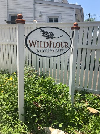 Wild Flour: Entrance Sign from parking lot