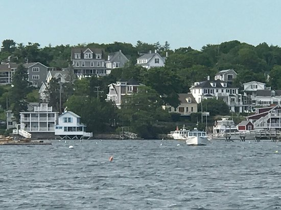 Greenleaf Inn at Boothbay Harbor: View from boat ride in harbor.