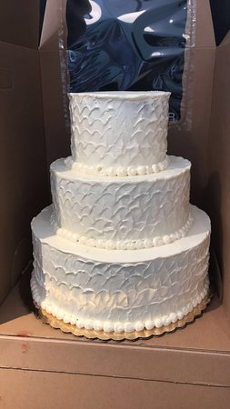 3-tier wedding cake - Picture of AMIE Bakery, Osterville - TripAdvisor
