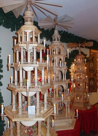 Erzgebirge Wooden Pyramid Picture Of German Christmas Museum
