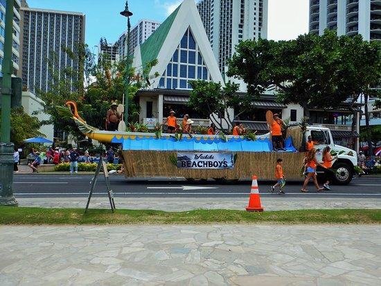 King Kamehameha Celebration Floral Parade: Waikiki Beachboys Float