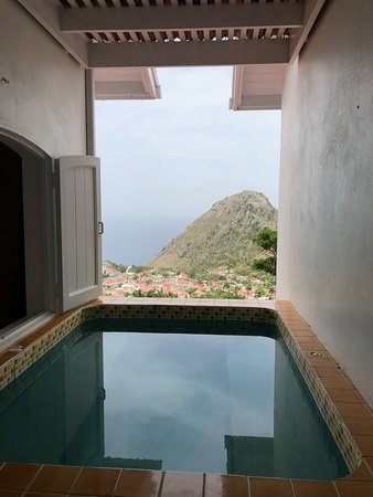 The Bottom, Saba: View from the in suite hot tub