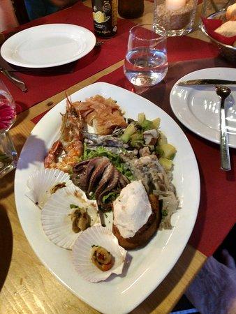 Ristorante Marco Polo: Seafood appetizer