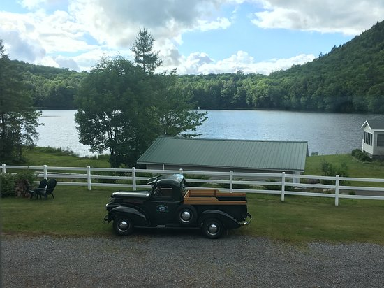 Piseco, NY: View from room 9. A pleasant step back in time.