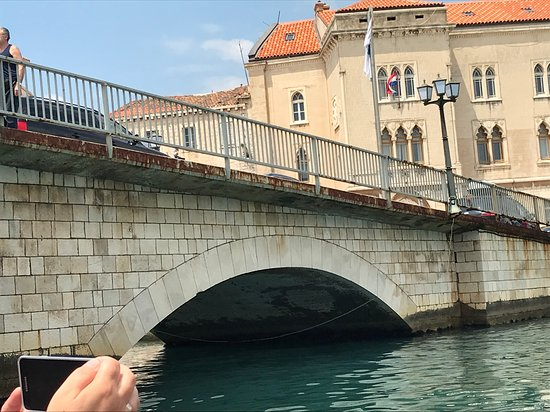 Croatia Boat Trips: One of the bridges we went under