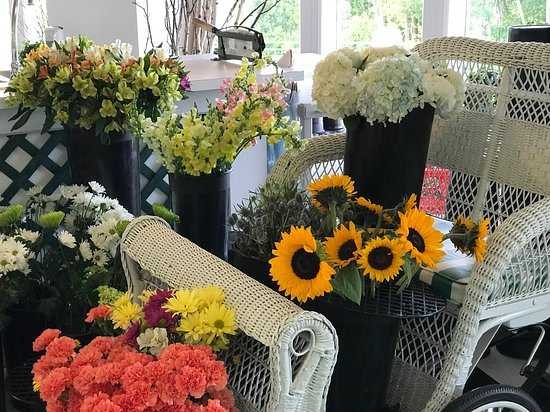 Flower shop at the Grand Hotel