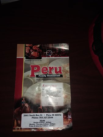 Peru Family Restaurant Menu