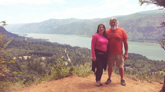 Cape Horn Trail: Cape Horn Overlook Panoramic View Of Columbia River Gorge