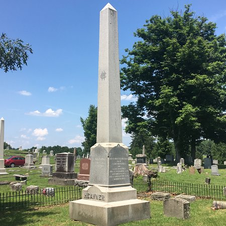 Buckhannon, Западная Вирджиния: Obelisk monument in Heavner Cemetery