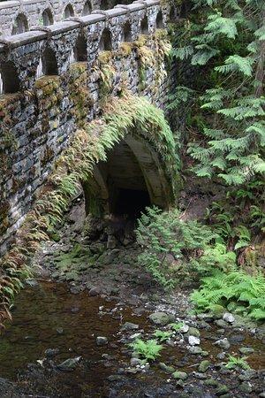 Whatcom Falls Park: The bridge as you enter the park.