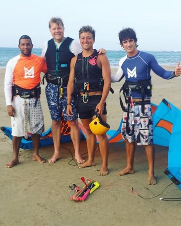 Liquid Blue Cabarete Water Sports Center: A successful day of kite boarding lessons.