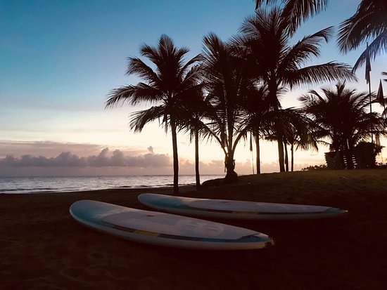 Liquid Blue Cabarete Water Sports Center: One of the best ways to start your day? Sunrise stand up paddle boarding session!