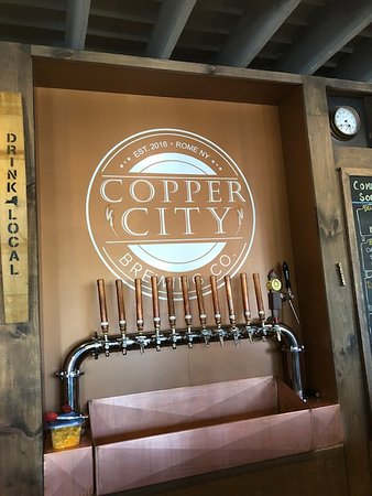 Copper City Brewing Company: Stand of Hand Crafted Draft Beers