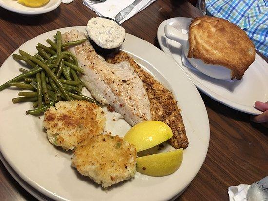 Tavern on Grand: Walleye dinner and Chicken Pot Pie