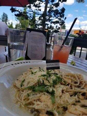 Excellent Gluten Free Pasta w/Chicken in Lemon & caper sauce - yum!