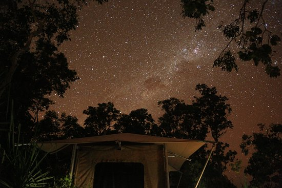 Garig Gunak Barlu National Park, Austrália: Camp at night under the milky way