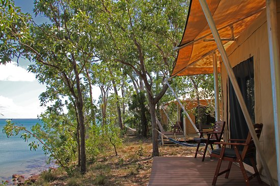 Garig Gunak Barlu National Park, Austrália: All safari tents have sea views