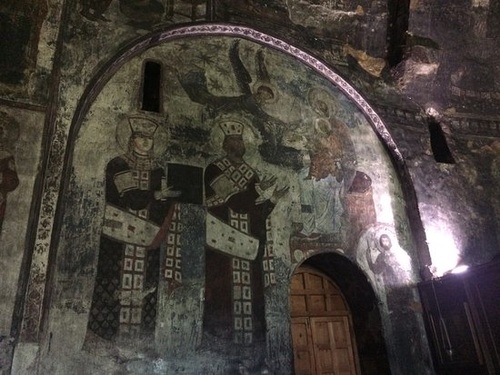 Aspindza, Georgia: Фреска в монастыре в Вардзии