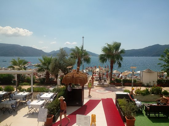 View from the terrace restaurant.