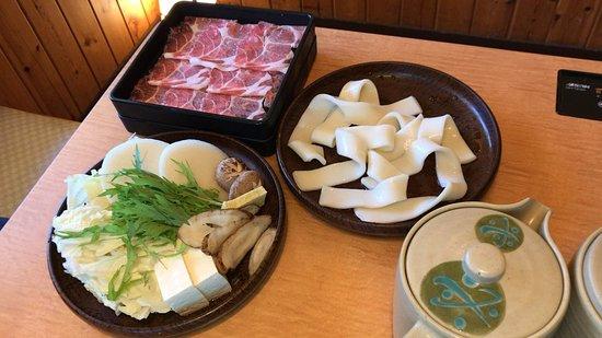 お昼のすき焼き定食 豚ロース (2018/07/01)