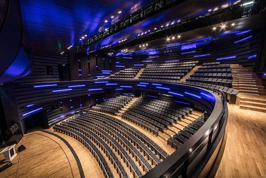 Selcuklu Kongre Merkezi Konya: Selçuklu Kongre Merkezi'nin bir diğer salonu doğal akustik özelliğe sahip olan Konya Oditoryumu.