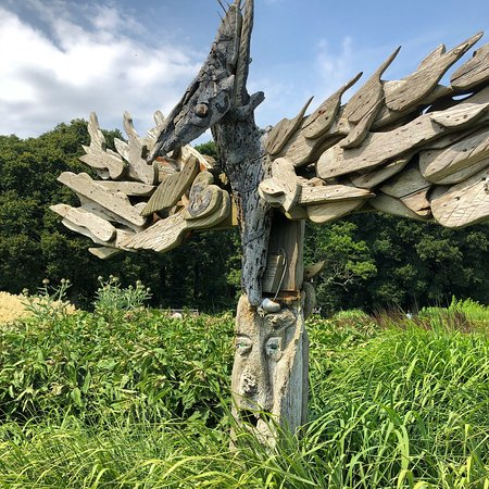 Sussex Prairies Garden: One of the many Totem Poles