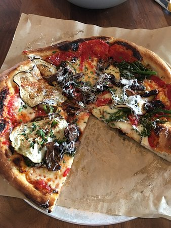 North Italia: Veggie of the day pizza - mushrooms, eggplant, broccolini