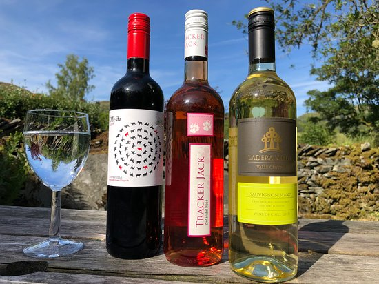 Elterwater, UK: A selection of wines are available from the hostel bar