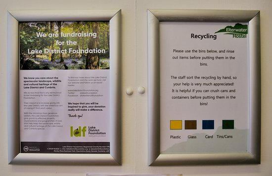 Elterwater, UK: recycling is available in the self catering kitchen