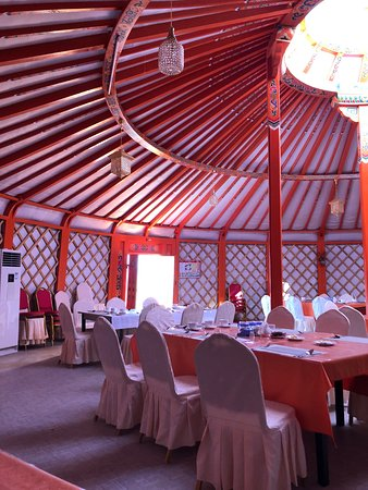 dining room at the Gobi Nomad lodge