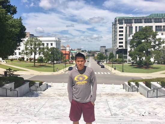 Alabama State Capitol: On Capitol Steps overlooking historic Dexter Avenue