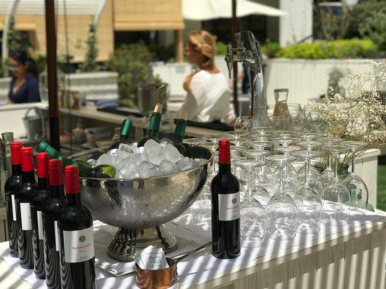 Terraza Con Barra Para Tomar Copas De Vino Y Cócteles