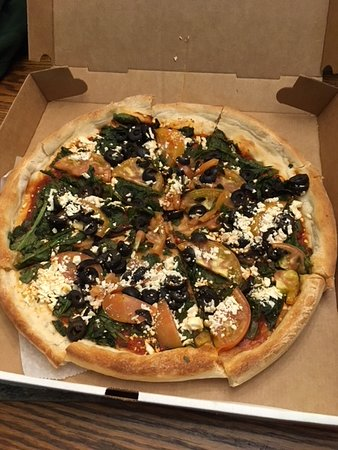 Southborough, MA: Greek Pizza with only feta cheese!
