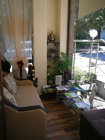Padmalaya massage center - In front of the massage cabinet, waiting place.