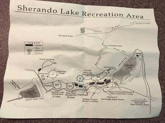 ลินด์เฮิรสต์, เวอร์จิเนีย: Map of Sherando Lake Recreation Area